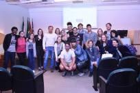 Julio com os alunos de Jornalismo do Mackenzie